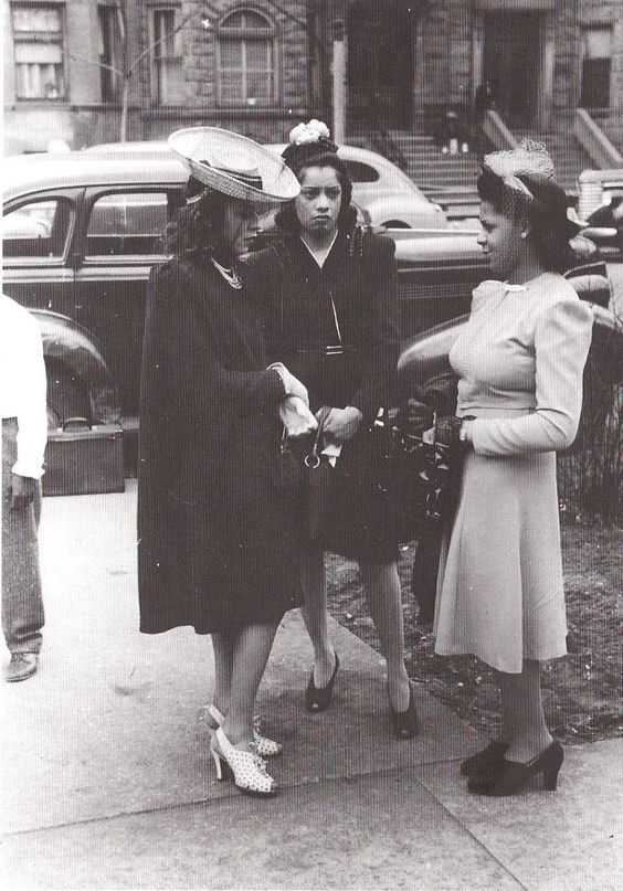 African American woment 1950s fashion