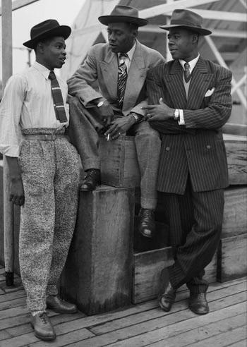 three men on a ship